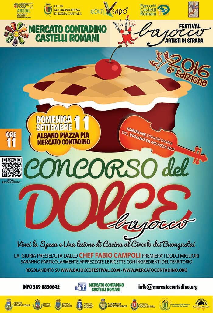 Immagine Locandina del concorso del dolce bajocco 2016