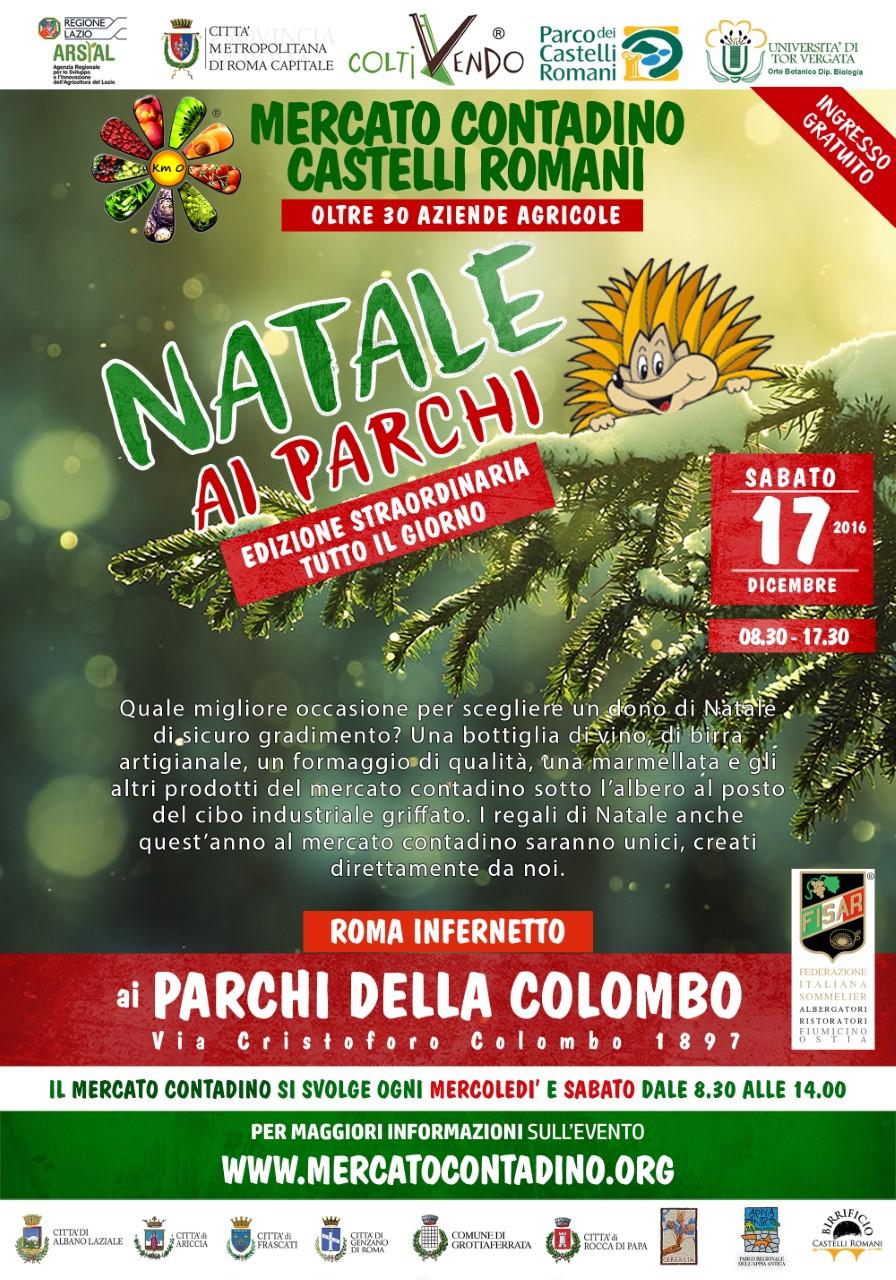 Mercato Contadino Castelli Romani Parchi della Colombo natale 2016