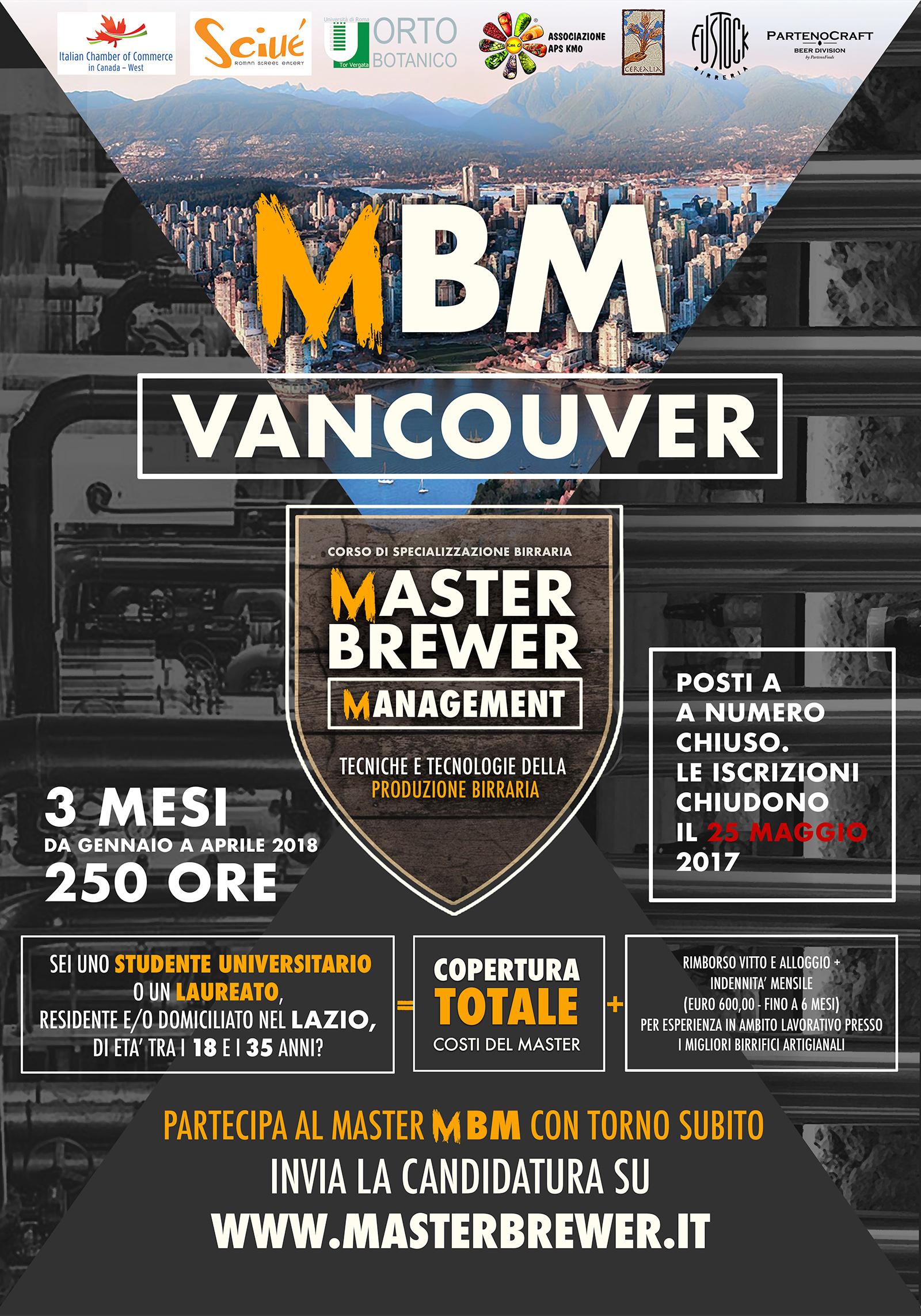 Master Brewer Management Vancouver