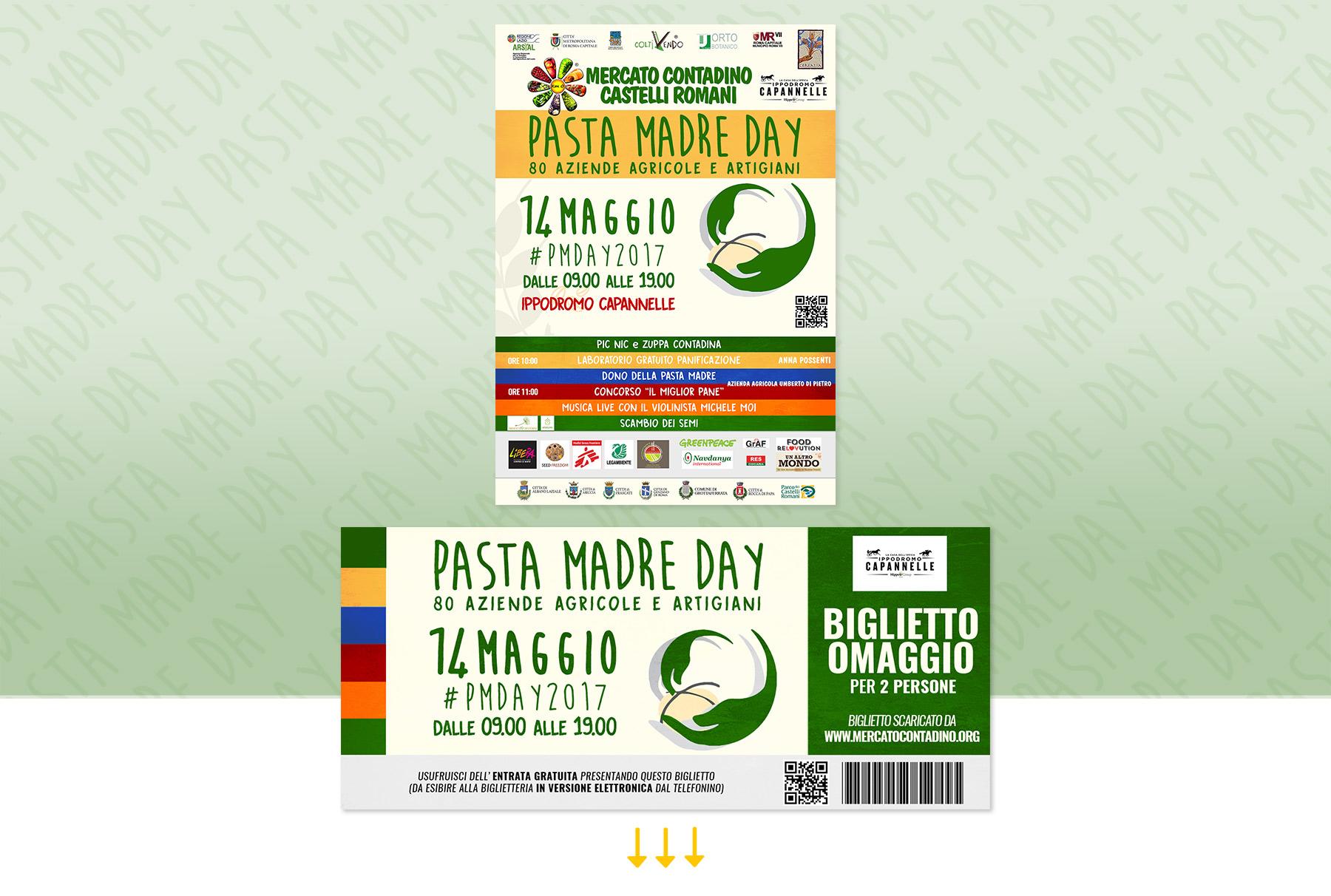 Biglietto Omaggio Immagine Pasta Madre Day 2017 Mercato Contadino Castelli Romani Roma
