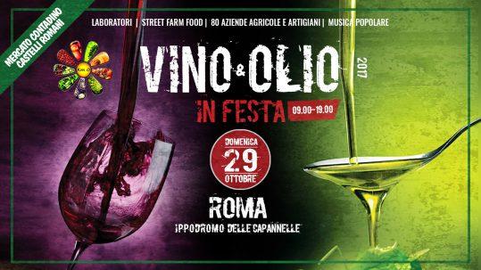 VINO e OLIO in FESTA 2017 al MERCATO CONTADINO Roma ippodromo capannelle