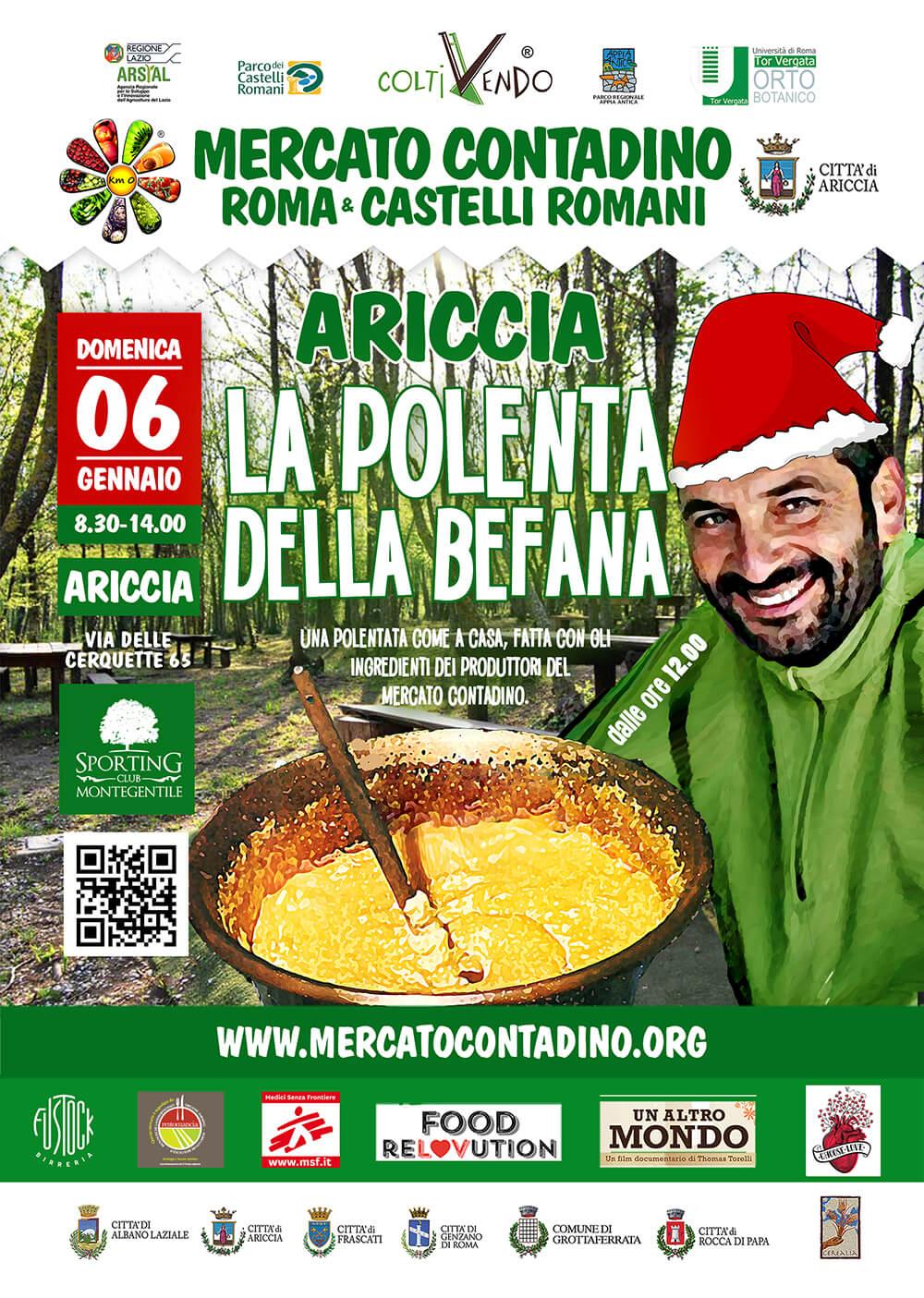 mercato contadino polenta di natale ariccia 2019