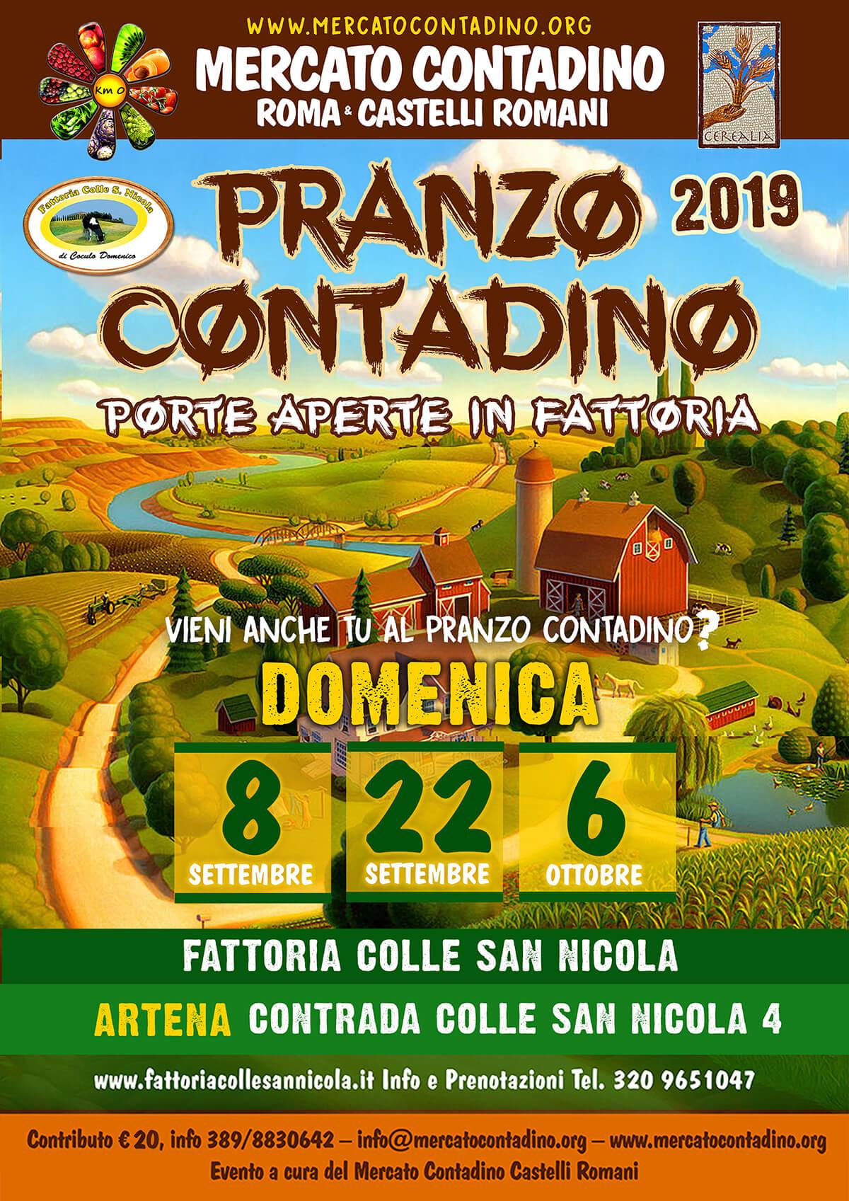 CONTADINO IN FATTORIA SAN NICOLA 2019 PRANZO