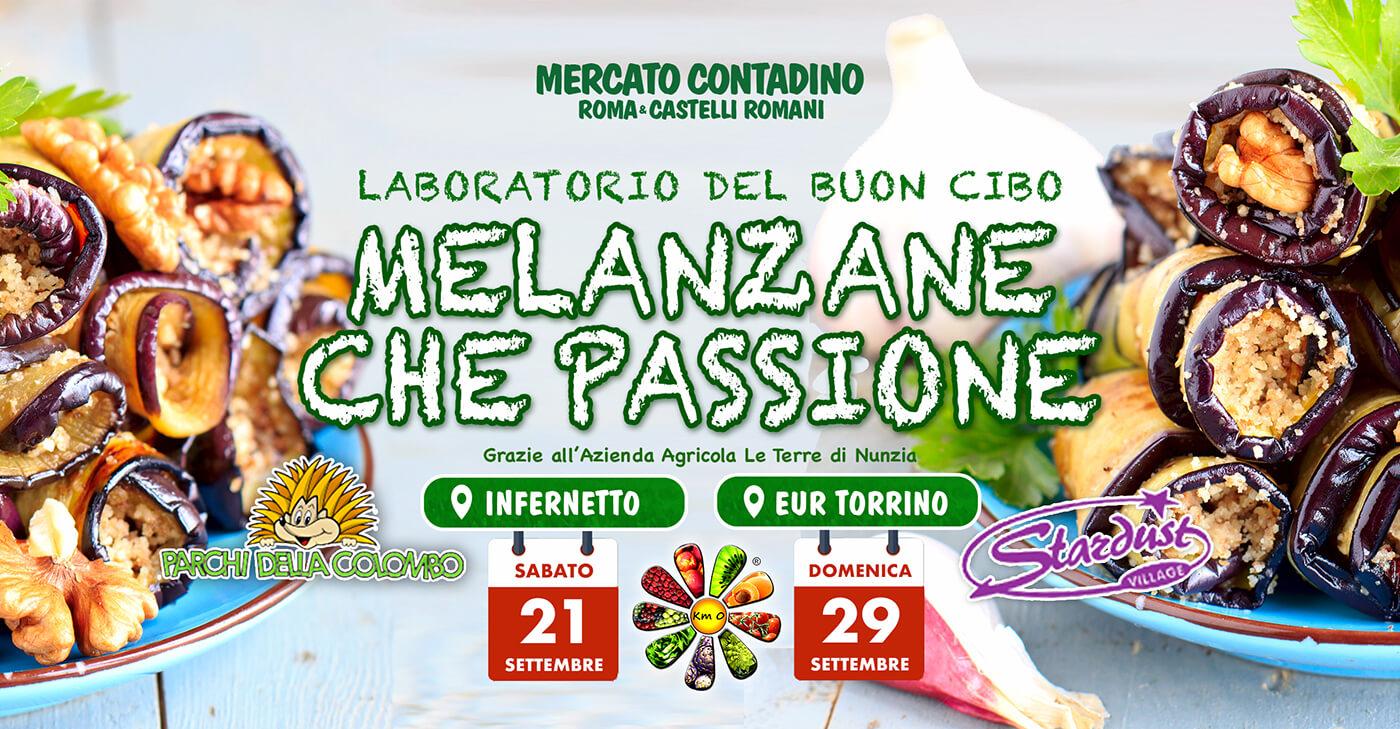 MELANZANE LABORATORIO BUON CIBO mercato contadino