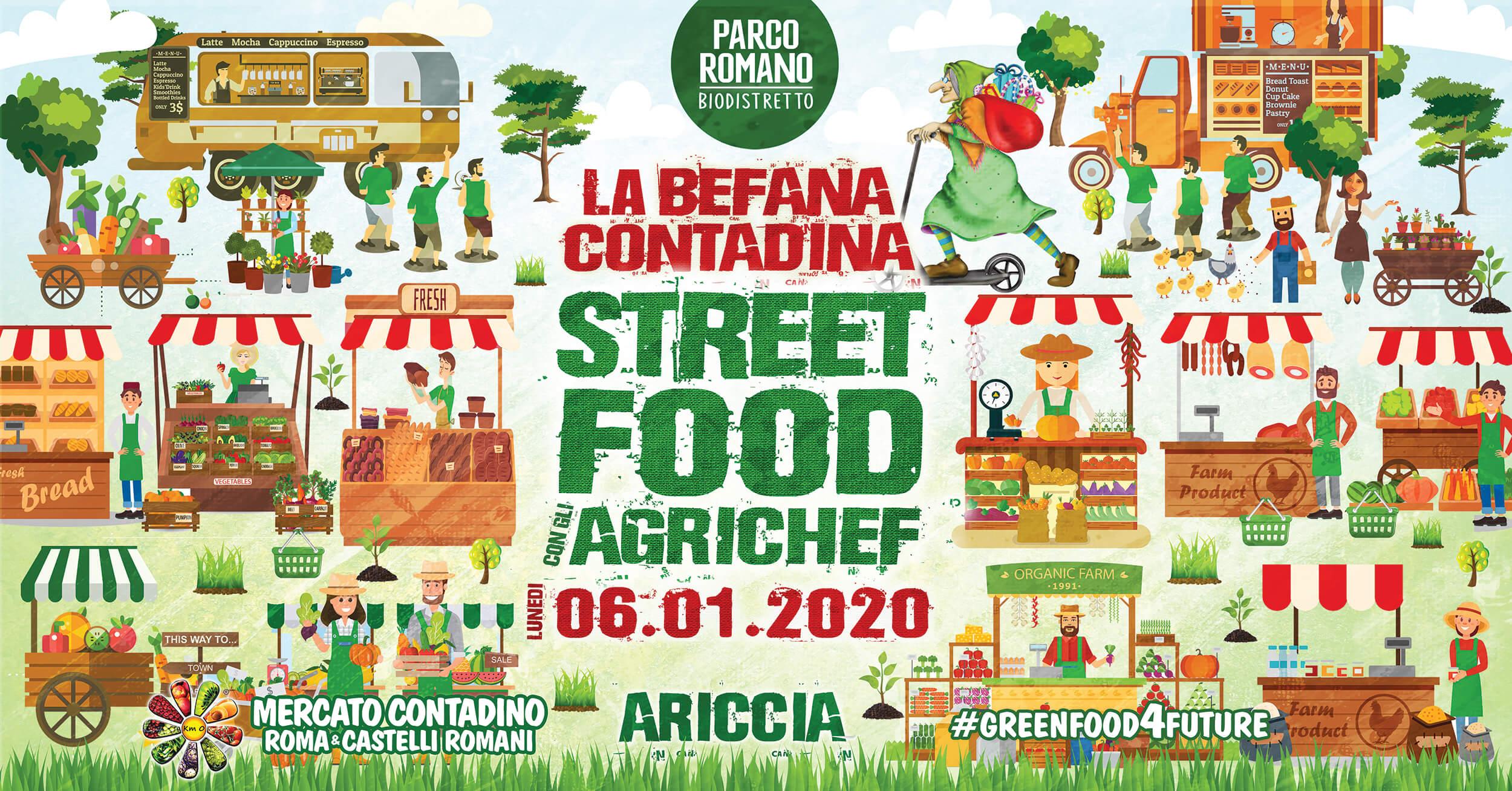 Evento Befana street food agrichef ariccia castelli romani 2020