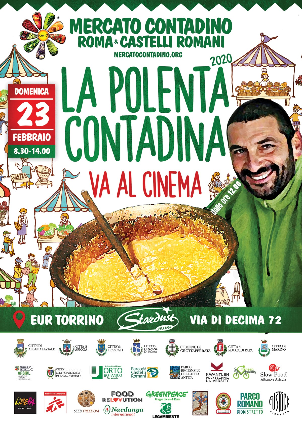 Polenta Contadina va al Cinema mercato contadino evento
