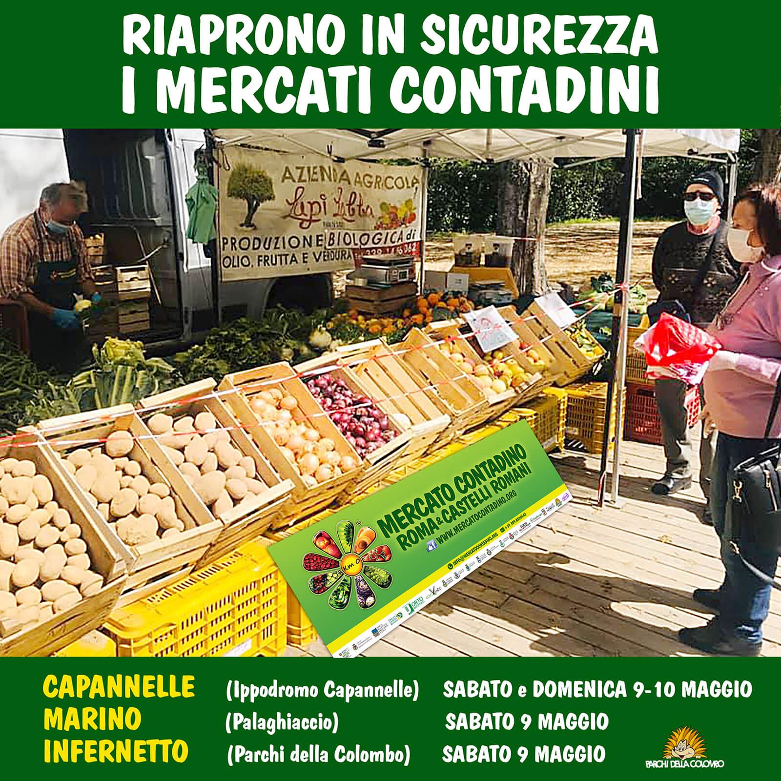 mercati contadini roma castelli romani riapertura