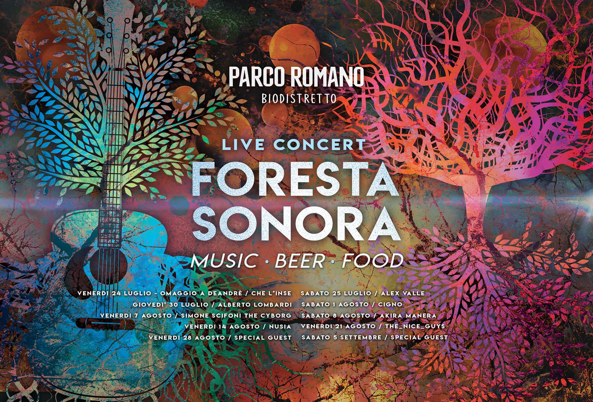 foresta sonora live concert aricccia