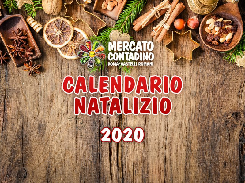 calendario natalizio 2020 mercati contadini aperti farmer's market