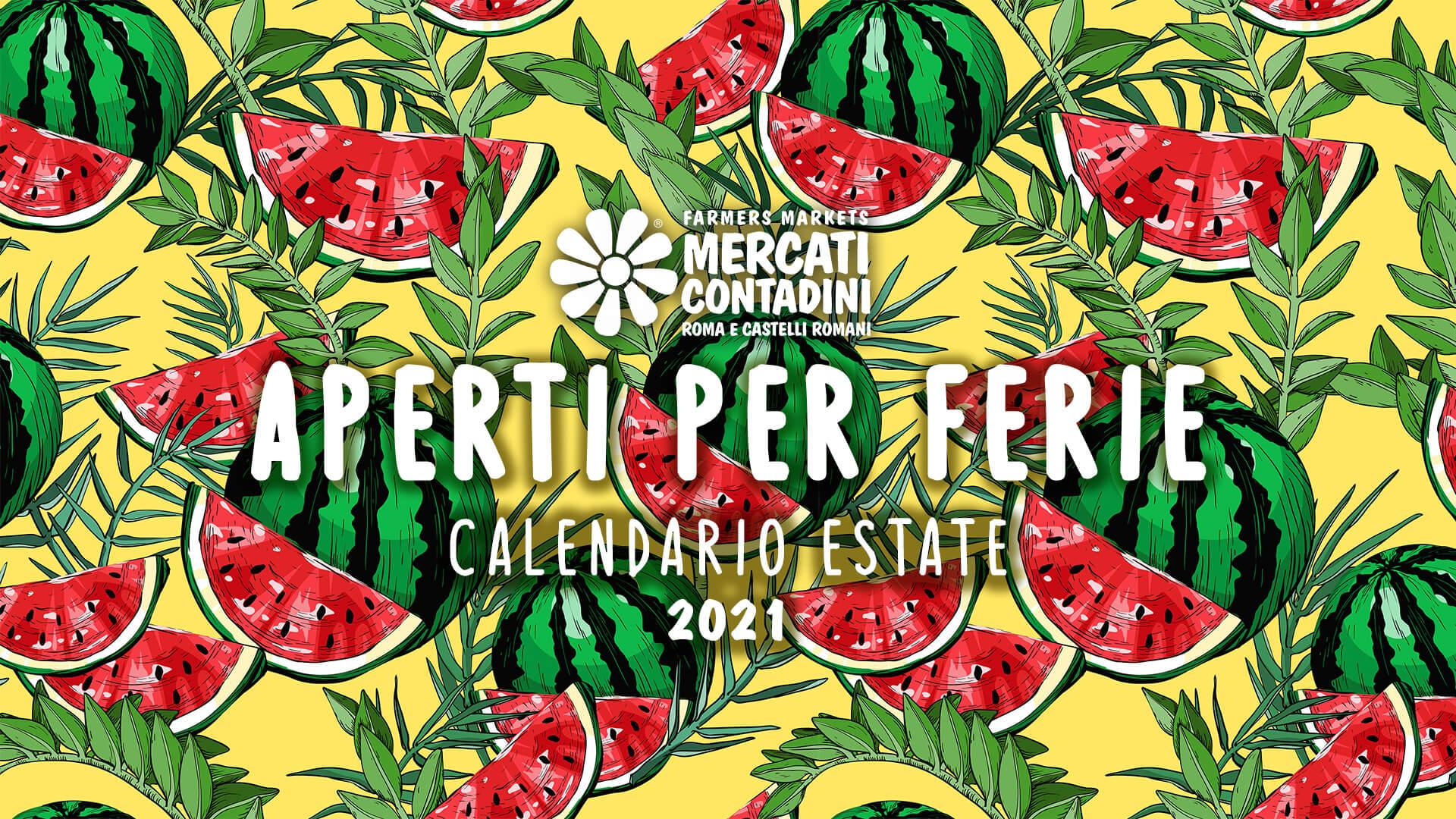 calendario estate 2021 mercato contadino